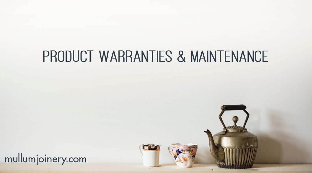 Product Warranties and Maintenance
