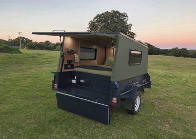 Camper trailer steel framework