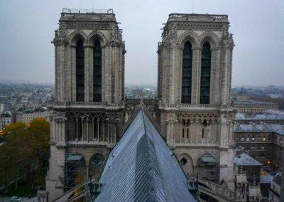 Notre Dame roof line