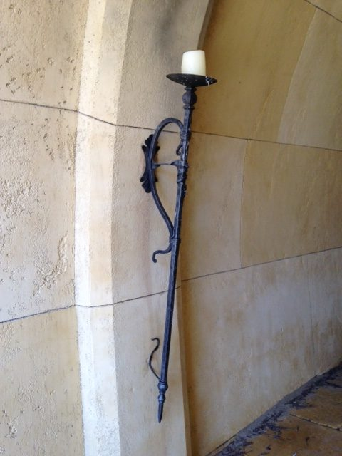 movie set props hand forged wall candle torch for movie on Gold Coast Australia