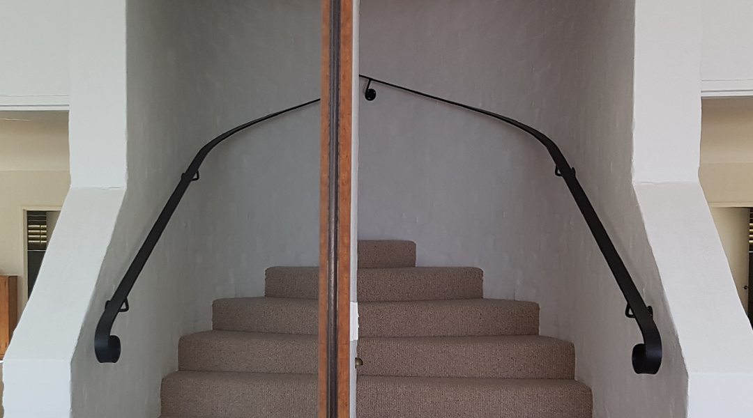 after-steel-spiral-staircase-handrail-mullum-joinery-view-from-mirror