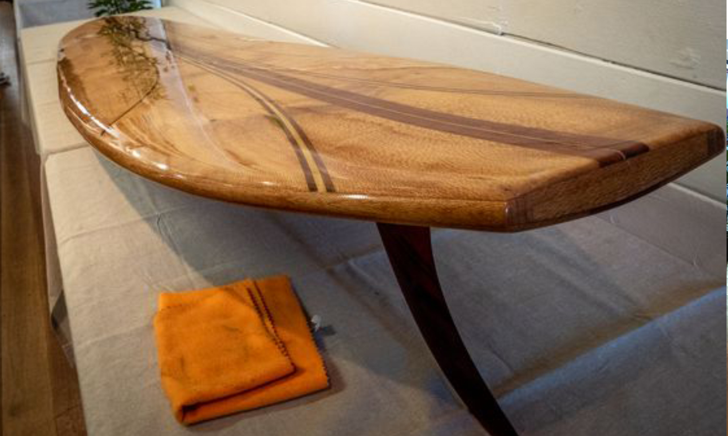Locally crafted surfboard. Image courtesy of QTT