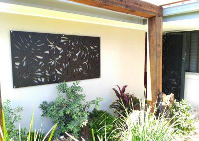 Lockable-steel-frame-courtyard-side-gate-Matching-decorative-panels-walls-3