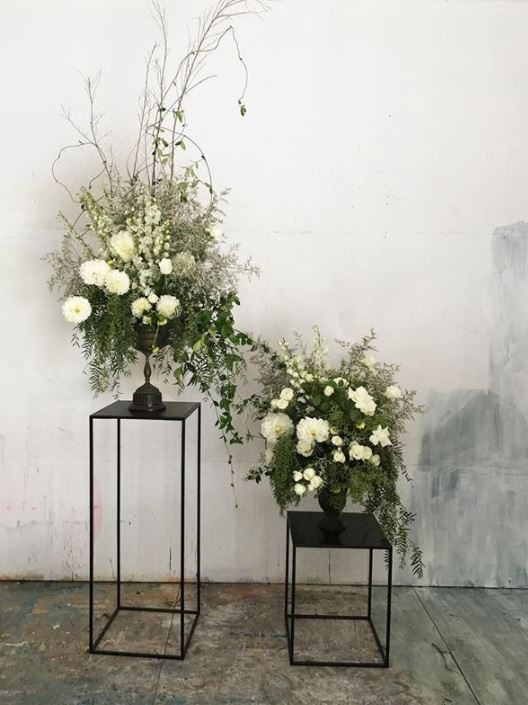 Braer floral design display plinths