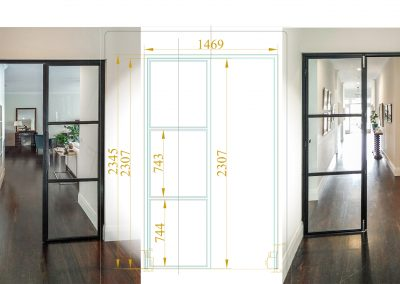 Steel and glass internal doors, Bangalow