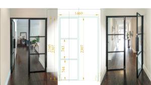 custom steel french doors